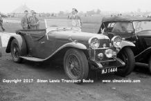 Alvis Speed 20 SA 1933 MJ 1444  parked at Winfield circuit, Scotland July 1951